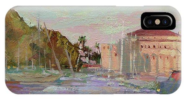 Morning Avalon Harbor - Catalina Island IPhone Case