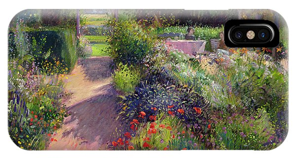 Garden iPhone Case - Morning Break In The Garden by Timothy Easton