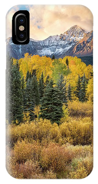 IPhone Case featuring the photograph Morning Clouds, Wilson Peak by Denise Bush