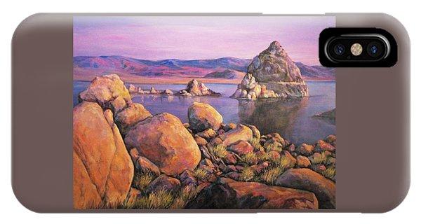 Morning Colors At Lake Pyramid IPhone Case