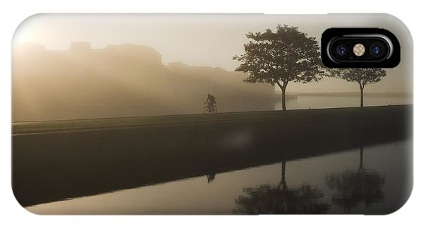 IPhone Case featuring the photograph Morning Cycle Galway Ireland by Pierre Leclerc Photography