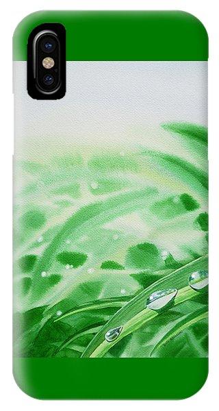 Hyper Realism iPhone Case - Morning Dew Drops by Irina Sztukowski