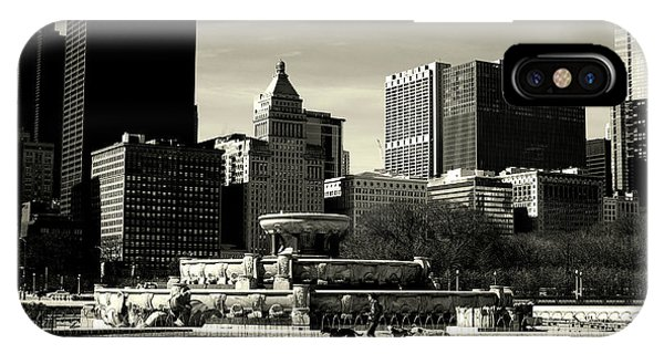 Morning Dog Walk - City Of Chicago IPhone Case