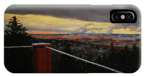 Morning Dusting Above Boulder IPhone Case