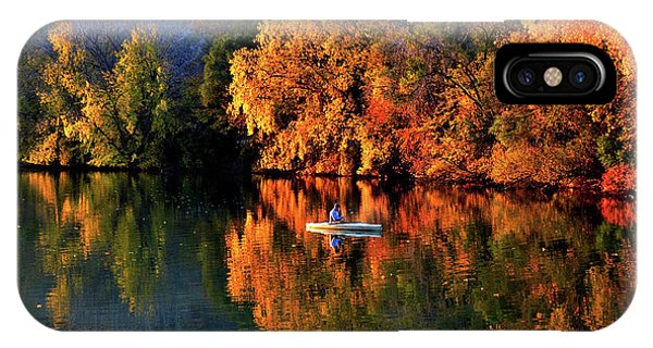 Morning Fishing On Lake Winona IPhone Case