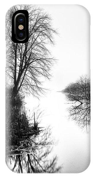Morning Fog - Inlet, Lake Logan IPhone Case
