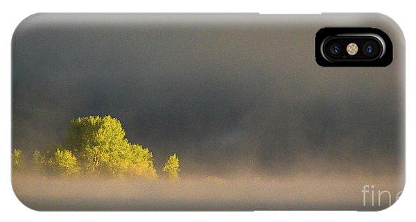Morning Fog On Jackson Lake Grand Teton National Park  IPhone Case