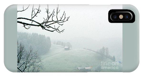 Morning Fog - Winter In Switzerland IPhone Case