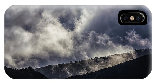 Morning Fog,mist And Cloud On The Moutain By The Sea In Californ IPhone Case