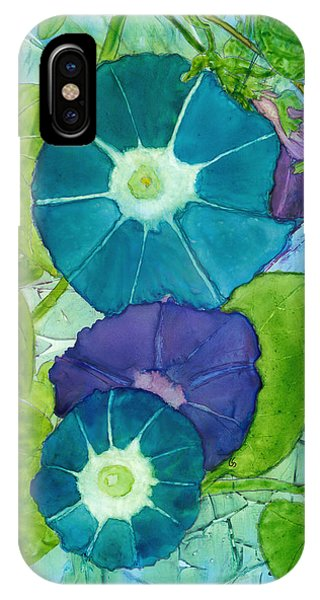 Morning Glories In Watercolor On Yupo IPhone Case