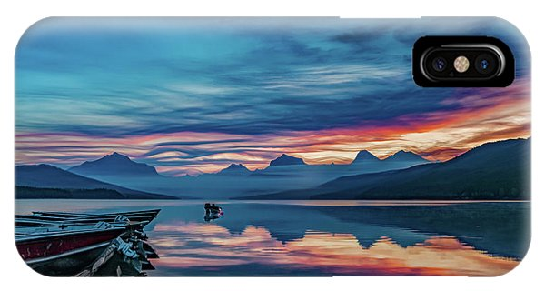IPhone Case featuring the photograph Morning Glory At Glacier National Park by Lon Dittrick