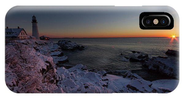 Morning Glow At Portland Headlight IPhone Case