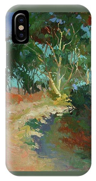 Betty Billups iPhone Case - Morning Has Broken  -  Plein Air Catalina Island by Betty Jean Billups