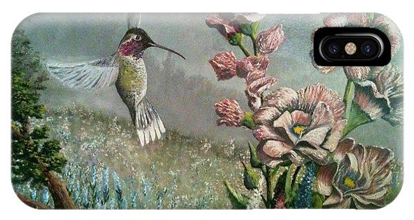 Morning Hummingbird IPhone Case