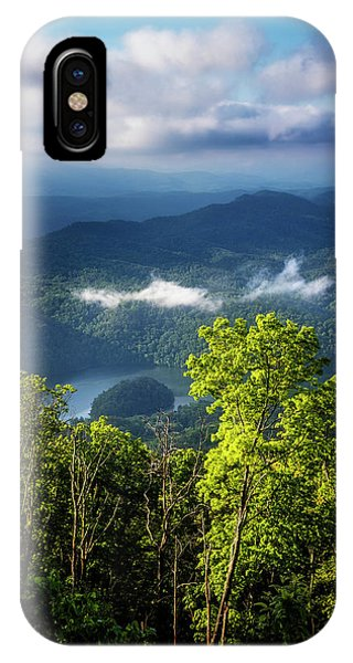 Chilhowee iPhone Case - Morning In The Blue Ridge Mountains by Debra and Dave Vanderlaan