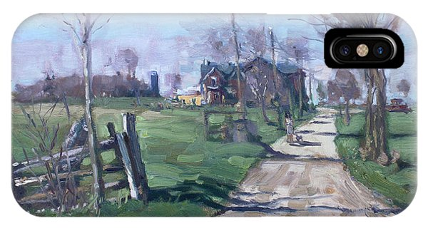 Georgetown iPhone Case - Morning In The Farm Georgetown by Ylli Haruni