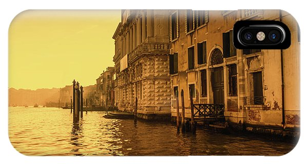 Morning In Venice Sepia IPhone Case