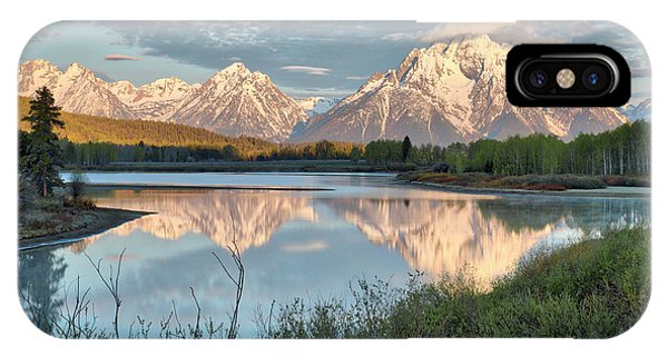 Morning Light At Oxbow Bend IPhone Case