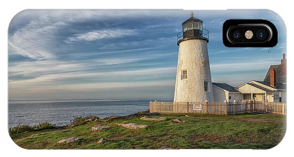 Morning Light At Pemaquid Point IPhone Case