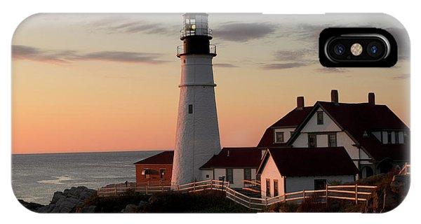 New England Coast iPhone Case - Morning Light by Dan Jordan