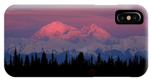 Morning Light On Denali IPhone Case