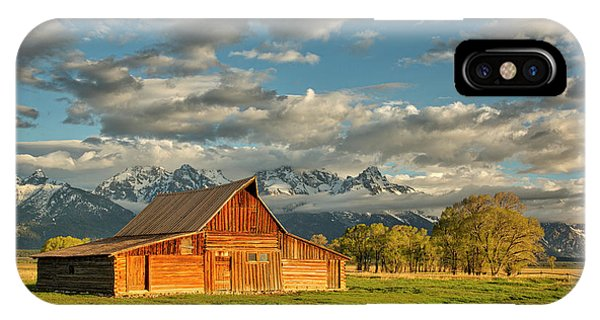 Morning Light On Moulton Barn #2 IPhone Case
