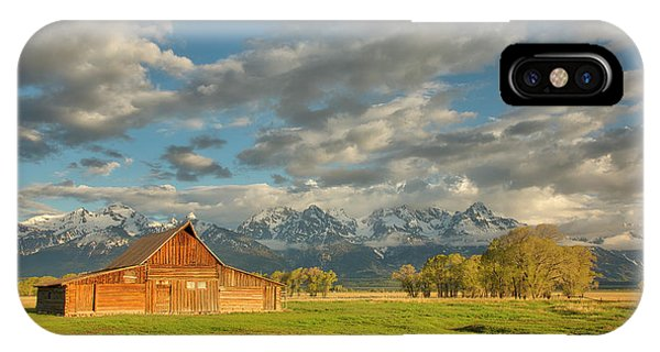 Morning Light On Moulton Barn IPhone Case