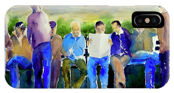 Morning Meeting In Portsmouth Square IPhone Case