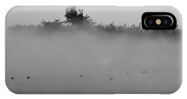 Morning Mist At Wetland Of Harike IPhone Case