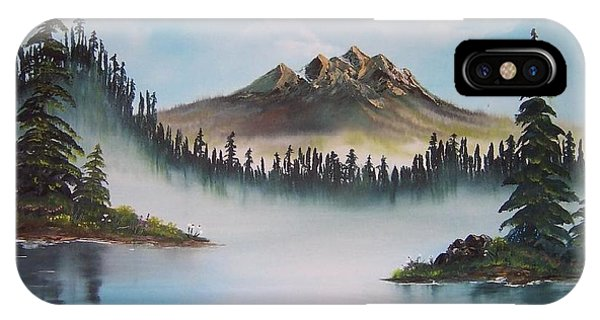 IPhone Case featuring the painting Morning Mist by Deahn      Benware