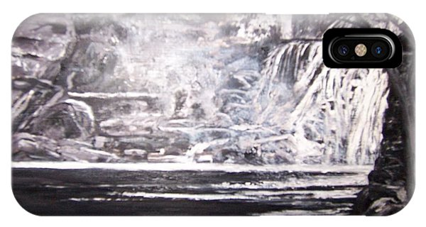 IPhone Case featuring the painting Morning Mist -theresa Falls by Jan Byington