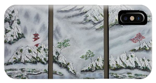 Morning Mist Triptych IPhone Case