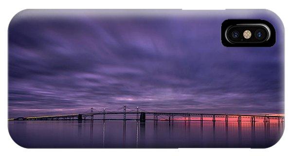 Chesapeake Bay iPhone X Case - Morning Mood by Robert Fawcett