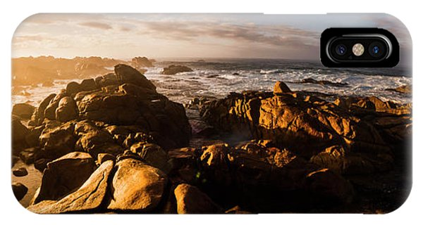 Angle iPhone X Case - Morning Ocean Panorama by Jorgo Photography - Wall Art Gallery