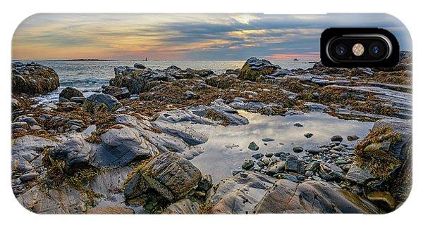 Navigation iPhone Case - Morning On Casco Bay by Rick Berk
