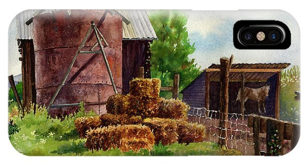 Barn iPhone Case - Morning On The Farm by Anne Gifford