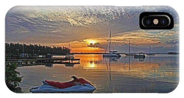 Jet Ski iPhone X Case - Morning Peace - Florida Sunrise by HH Photography of Florida