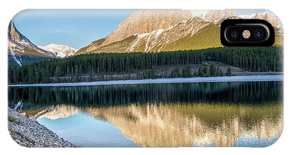 Rocky Mountain Np iPhone Case - Morning Reflection by Martin Capek