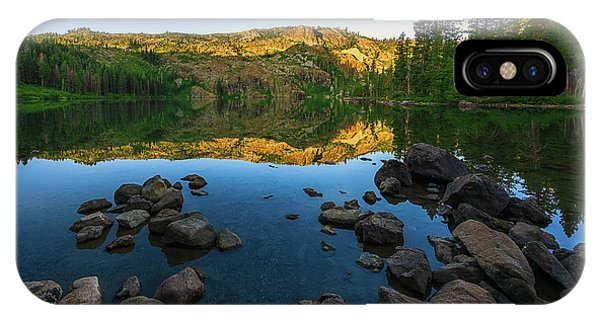 Morning Reflection On Castle Lake IPhone Case