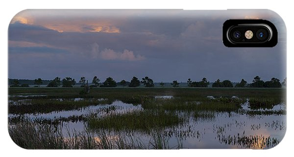 Morning Reflections Over The Wetlands IPhone Case