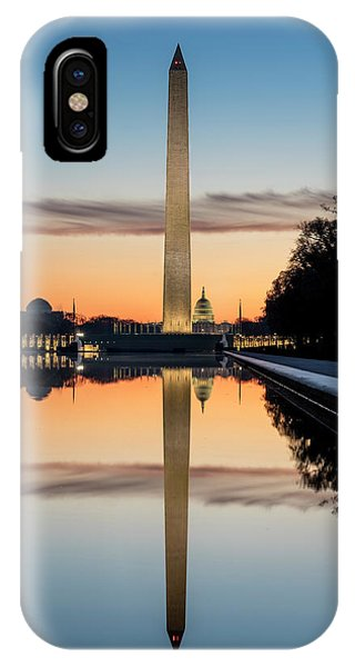 IPhone Case featuring the photograph Morning Reflections by Ryan Wyckoff
