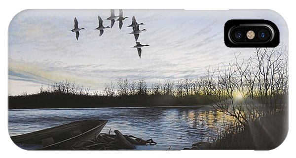 Morning Retreat - Pintails IPhone Case