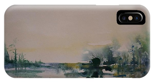 Morning River Abstract IPhone Case