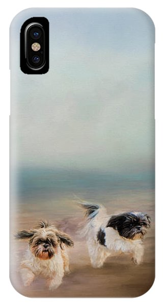 Morning Run At The Beach IPhone Case