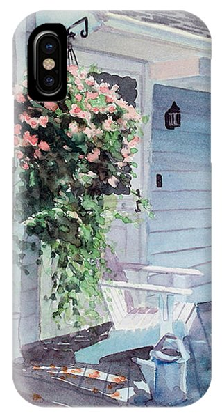 Porch iPhone Case - Morning Shadows by Laura Lee Zanghetti