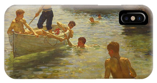 Boats iPhone Case - Morning Splendour by Henry Scott Tuke