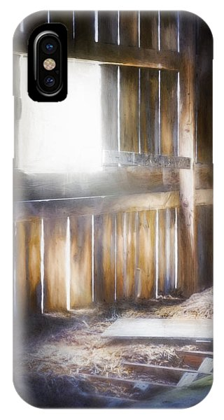 Panel iPhone Case - Morning Sun In The Barn by Scott Norris