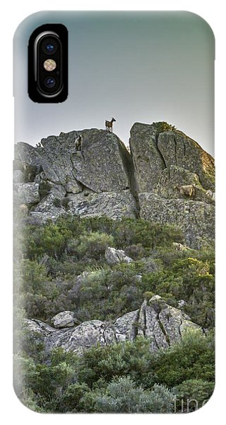 Morning Sun Lit Rocky Hill Greece IPhone Case