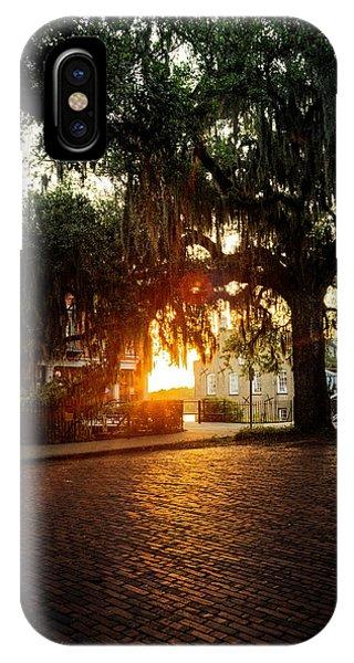 Morning Sun On The Bricks Of Savannah IPhone Case