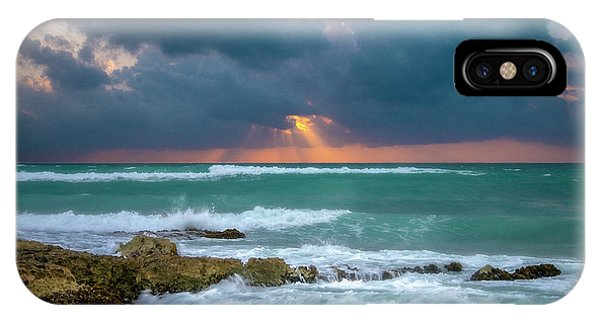 IPhone Case featuring the photograph Morning Surf by Allin Sorenson